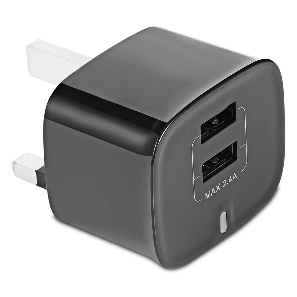 Baseus Funzi Dual USB 2.4A Smart Travel Charger UK Plug