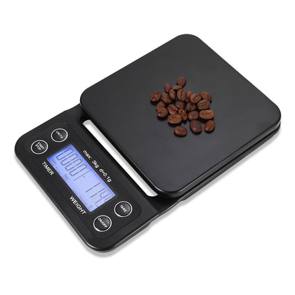Digital Kitchen Food Coffee Weighing Scale + Timer