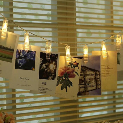 BRELONG Photo Clip String Light Battery Powered Perfect Anniversary Ornament for Hanging Pictures / Notes / Artwork