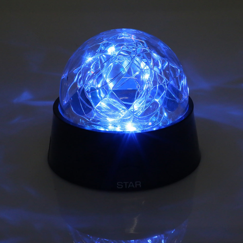Crystal Ball Shape Firework Sparkle Desk Lamp