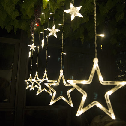 12 LEDs Star String Light Decoration Lamp for Wedding Party