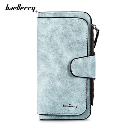 Baellerry Women Long Wallet PU Leather Clutch Card Holder