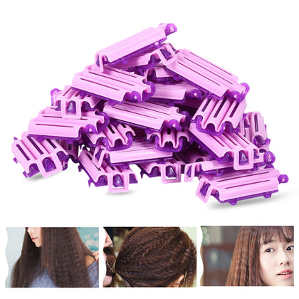 45pcs Hairdressing Styling Corrugated Hair Clip Curler DIY Tool