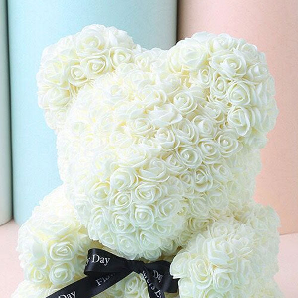 "16"" Valentine Day Gift Artificial Large Rose Bear Wedding Party Decoration"