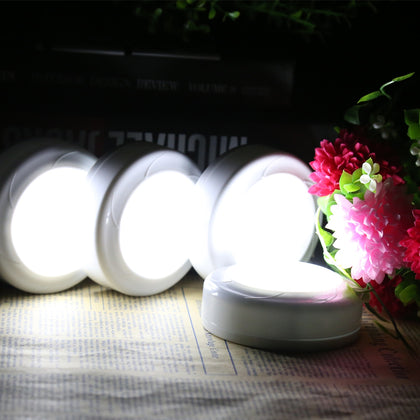 Remote Control Puck Light LED Kitchen Cabinet Lamp 1pcs
