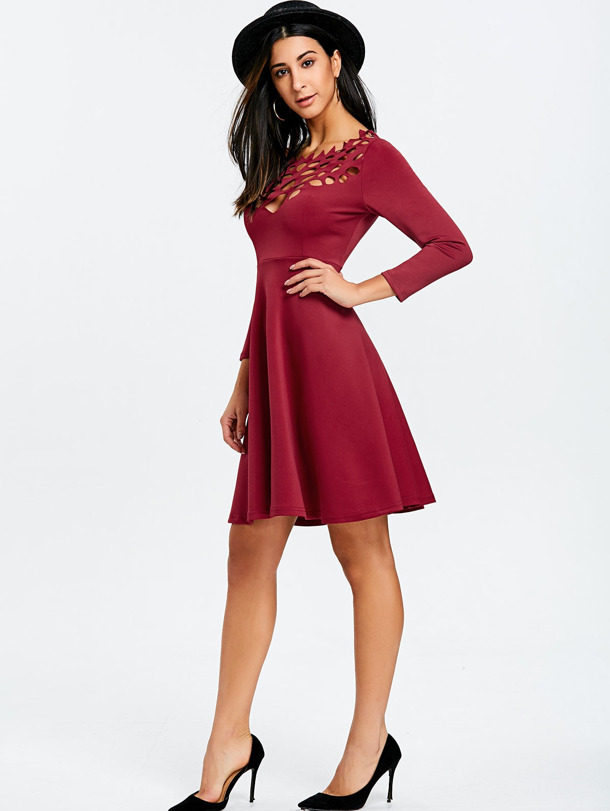 Cut Out Mini Party Dress
