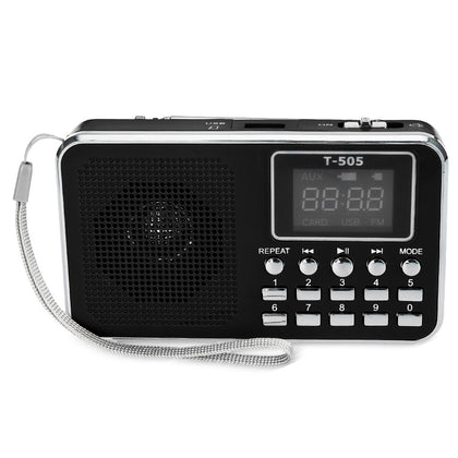 T - 505 Digital LED Display Screen Speaker FM Radio