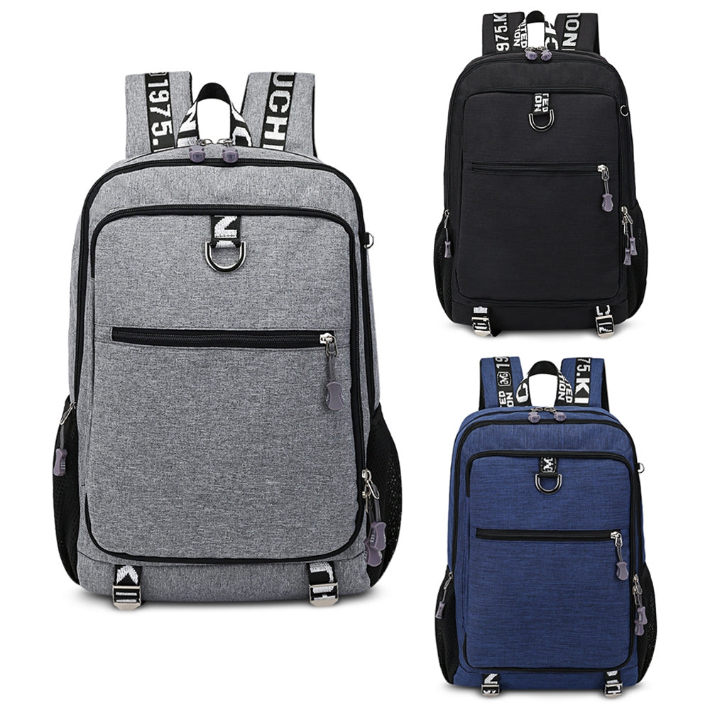 Guapabien Large Capacity Men's Travel Laptop Backpack with USB Charging Port