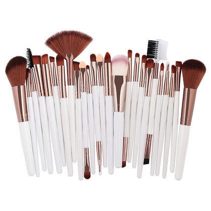 25pcs Makeup Brushes Foundation Power Blush Eye Shadow Eyebrow Lip Beauty Tool