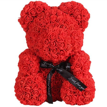 Valentine Day Gift Artificial Rose Bear Wedding Party Decoration