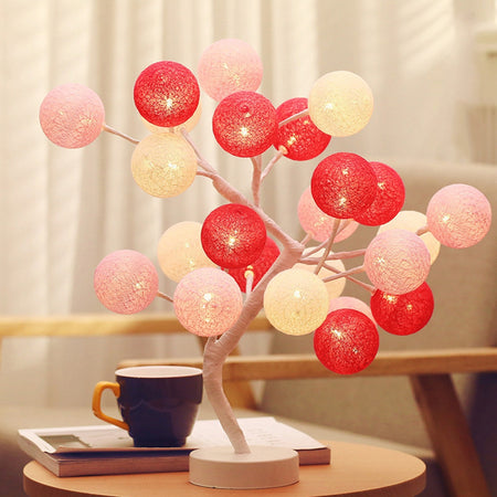 LED Cotton Ball Bonsai Tree Desk Light
