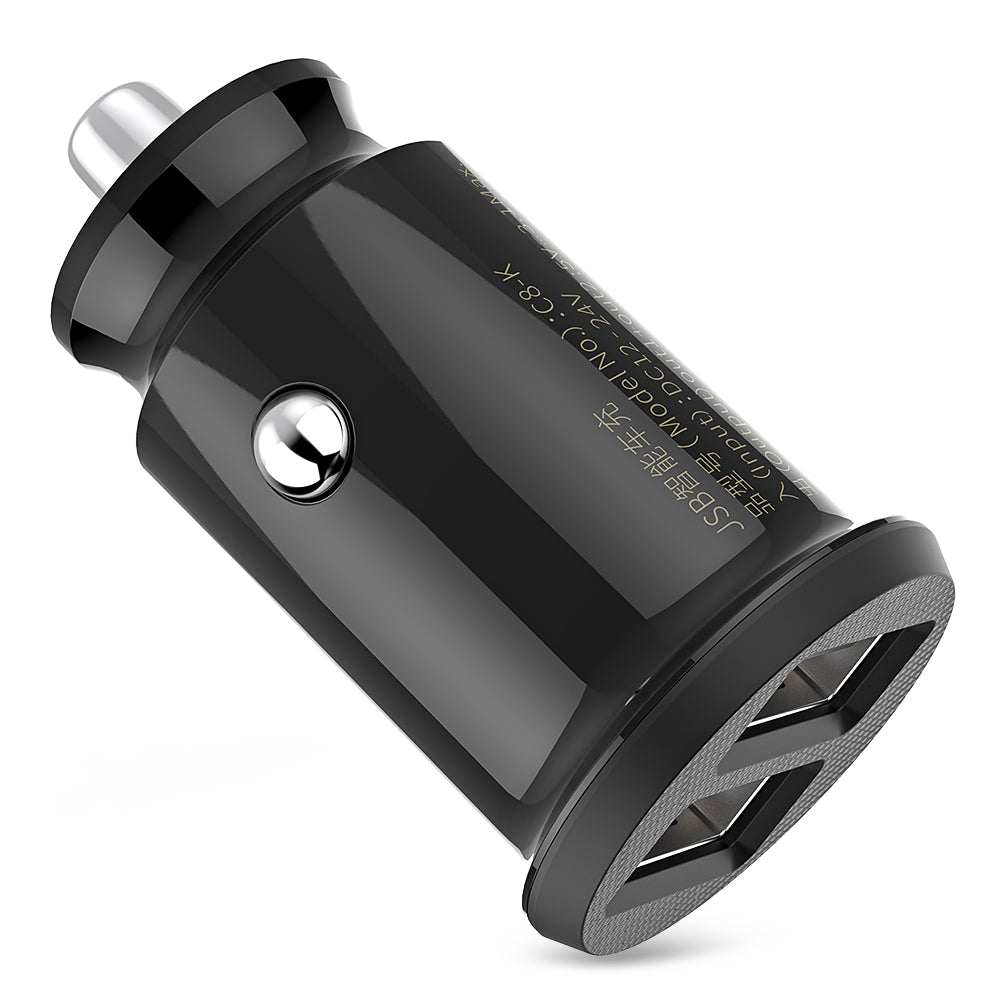 Baseus C8 - K Grain Fast Car Charger Small Dual USB Output 3.1A