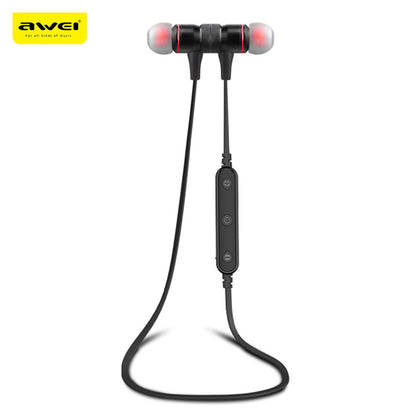 Awei B922BL Magnet Attraction Wireless Bluetooth 4.2 Stereo Sports Headphones