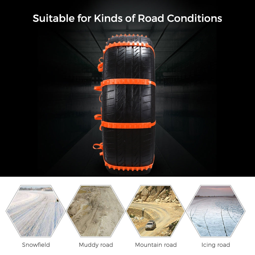 10PCS AutoLover 900AST Universal Car Tyre Anti-skid TPU Chains for Road Safety