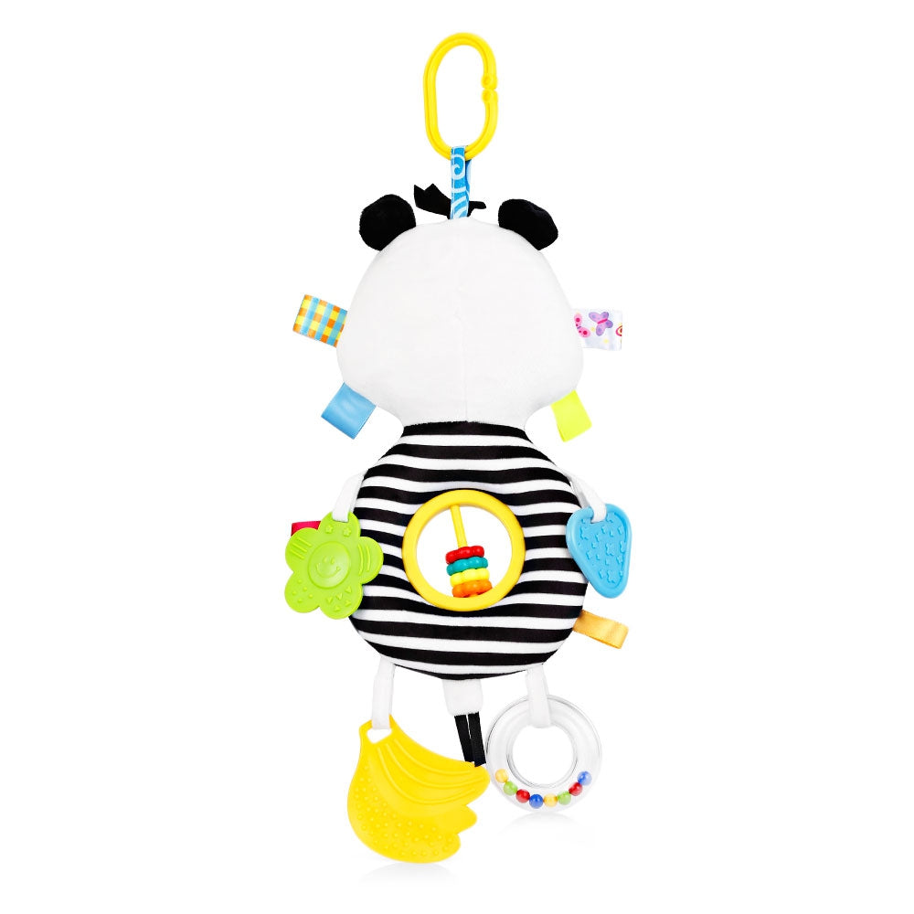 Baby Crib Animal Rattle Plush Toy Teether Stroller Pendant Hanging Bed Bell