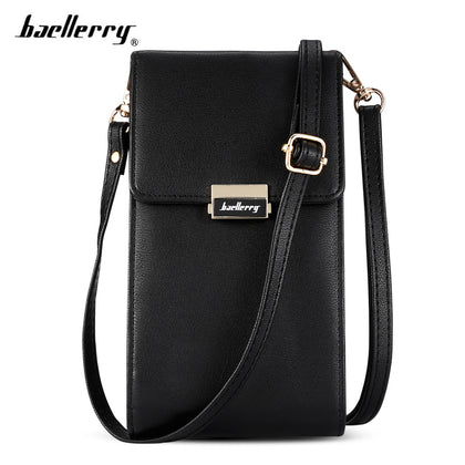 Baellerry Leather Multi-function Women Crossbody Clutch Bag