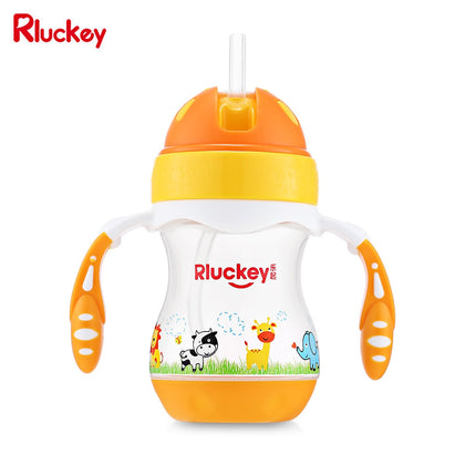 Rluckey L - SH004 180ml Slide Cover Binaural Straw Cup Baby Kettle