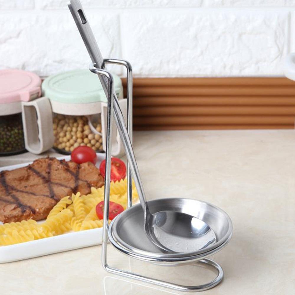 Stainless Steel Spoon Rest Vertical Holder for Soup Ladle