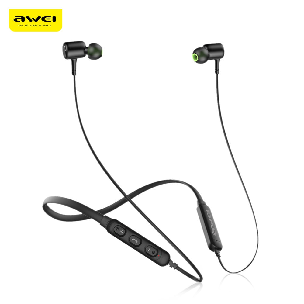 Awei G30BL Wireless Bluetooth 4.2 Headphones Neckband Sport Earbuds