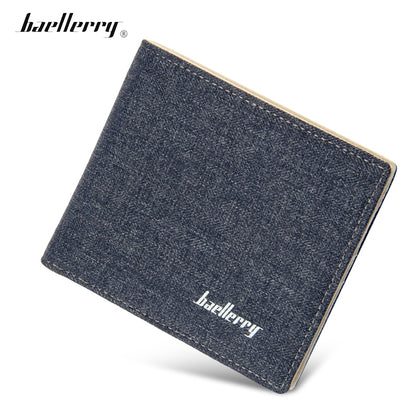 Baellerry Slim Coin Money Card Holder Canvas Pocket Men Wallet