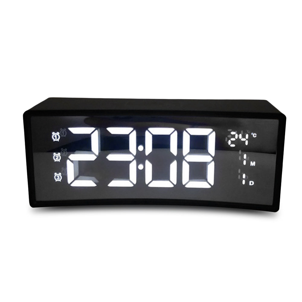 3D Curved Surface Screen Floating LED Display Smart Alarm Electronic Clock