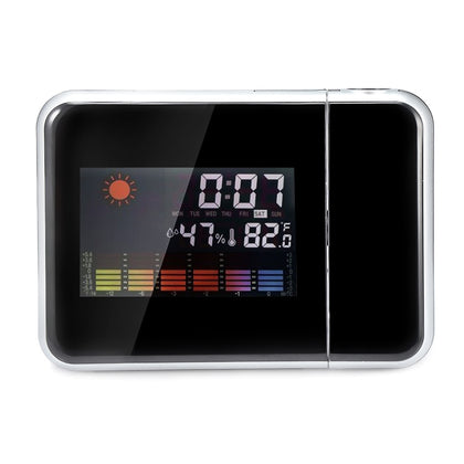 LED Electronic Weather Forecast Projection Alarm Clock