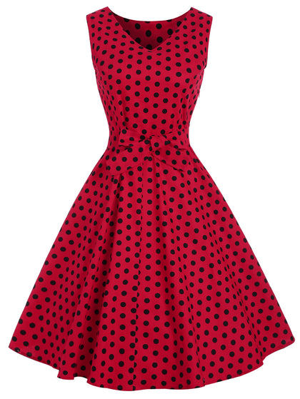 Vintage Dotted Pin Up Dress