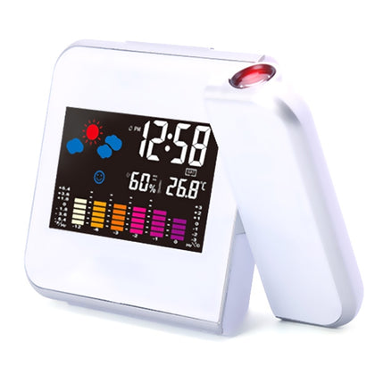 Creative LED Weather Forecast Projection Snooze Color Screen Clock
