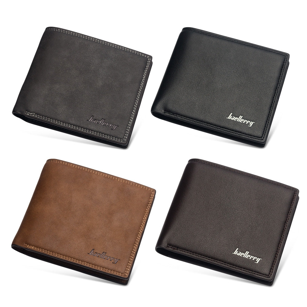 Baellerry PU Leather Simple Design Casual Men Wallet