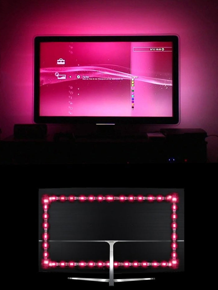 TV Backlight RGB LED Strip Light with Infrared Control