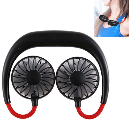 Wearable Portable Rechargeable Neckband Mini Sports Fan