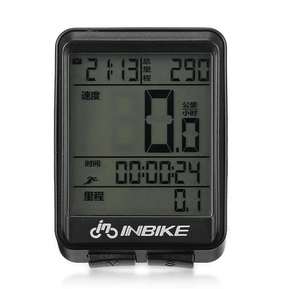 INBIKE Rainproof Bike Computer Speedometer Measurable Temperature Stopwatch