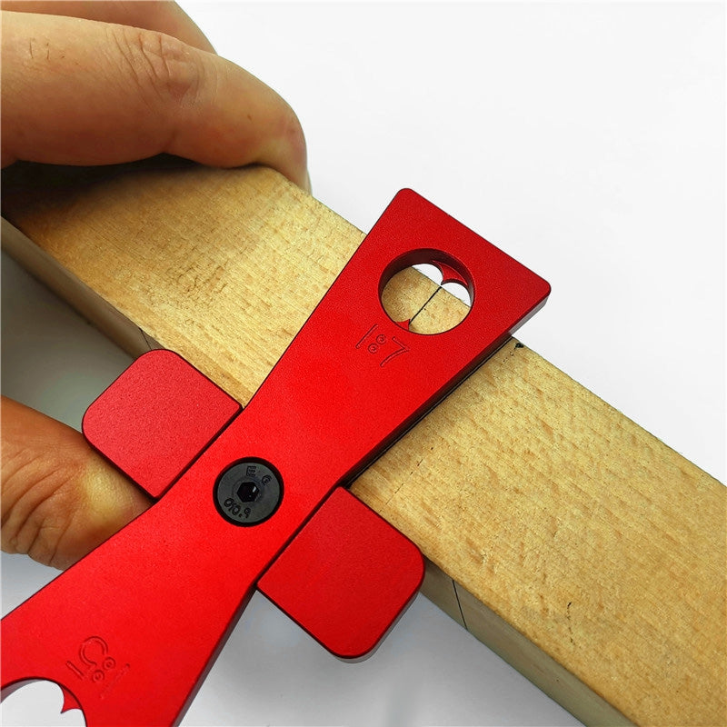 Woodworking Dovetail Gauge Scriber Painting Scale Board 2pcs