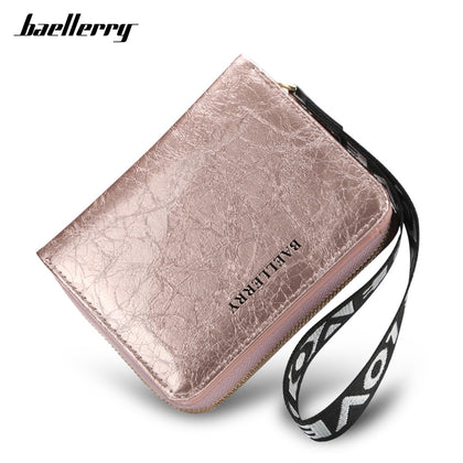 Baellerry Women Wallet PU Leather Zipper Hasp Card Slot Cash Coin Pocket