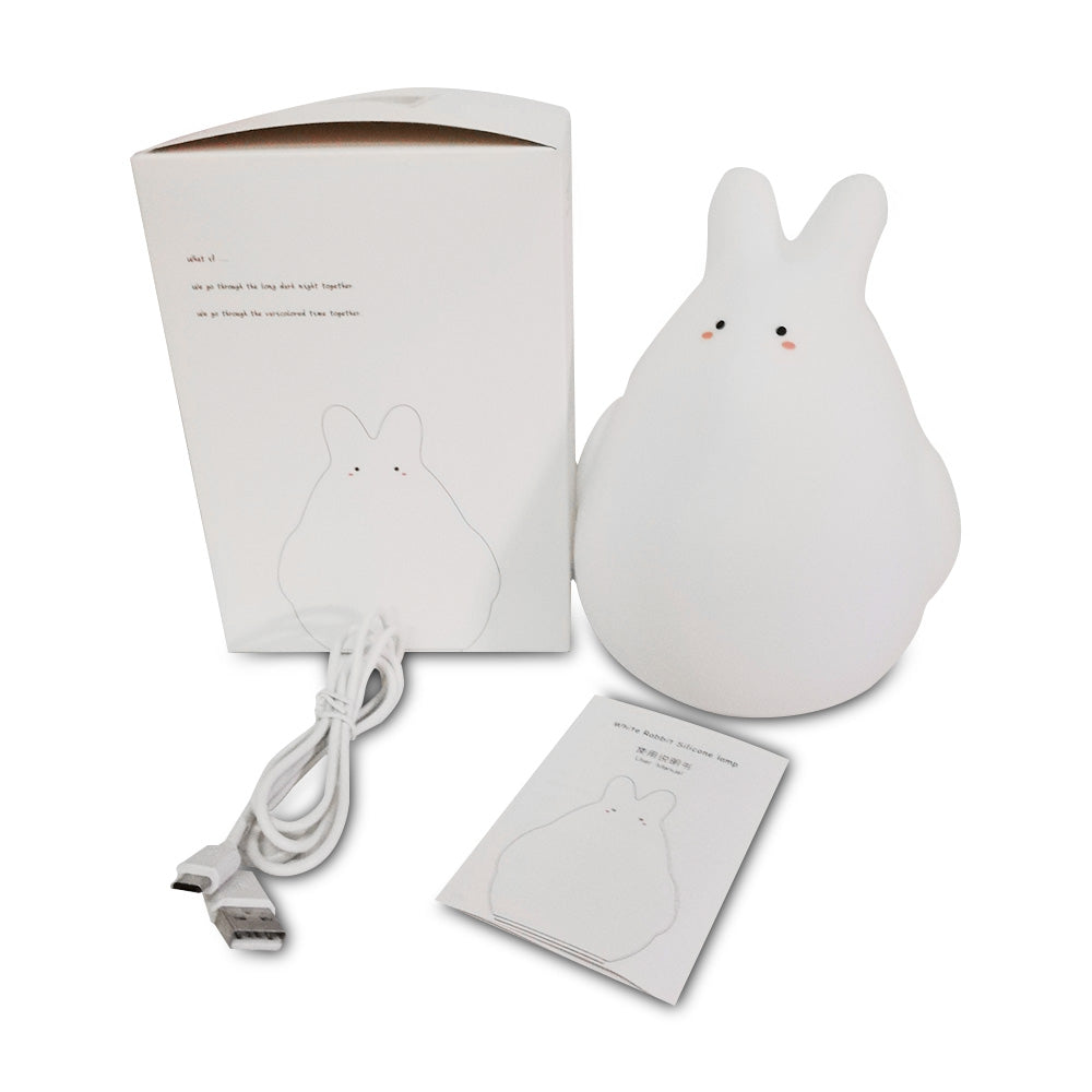 K - 1026 USB Charging Night Light RGB Tooger Rabbit Pat Lamp