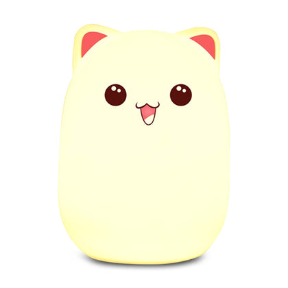 Bear Patting Tap Night Light Lamp for Bedroom USB Colorful Light