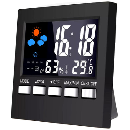 Multi-function LED Backlight Color Screen Weather Clock