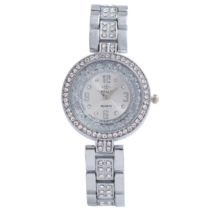 REALY A0149 Ladies Quartz Watch Diamond Simple Pointer Display Ultra-fine Steel Belt