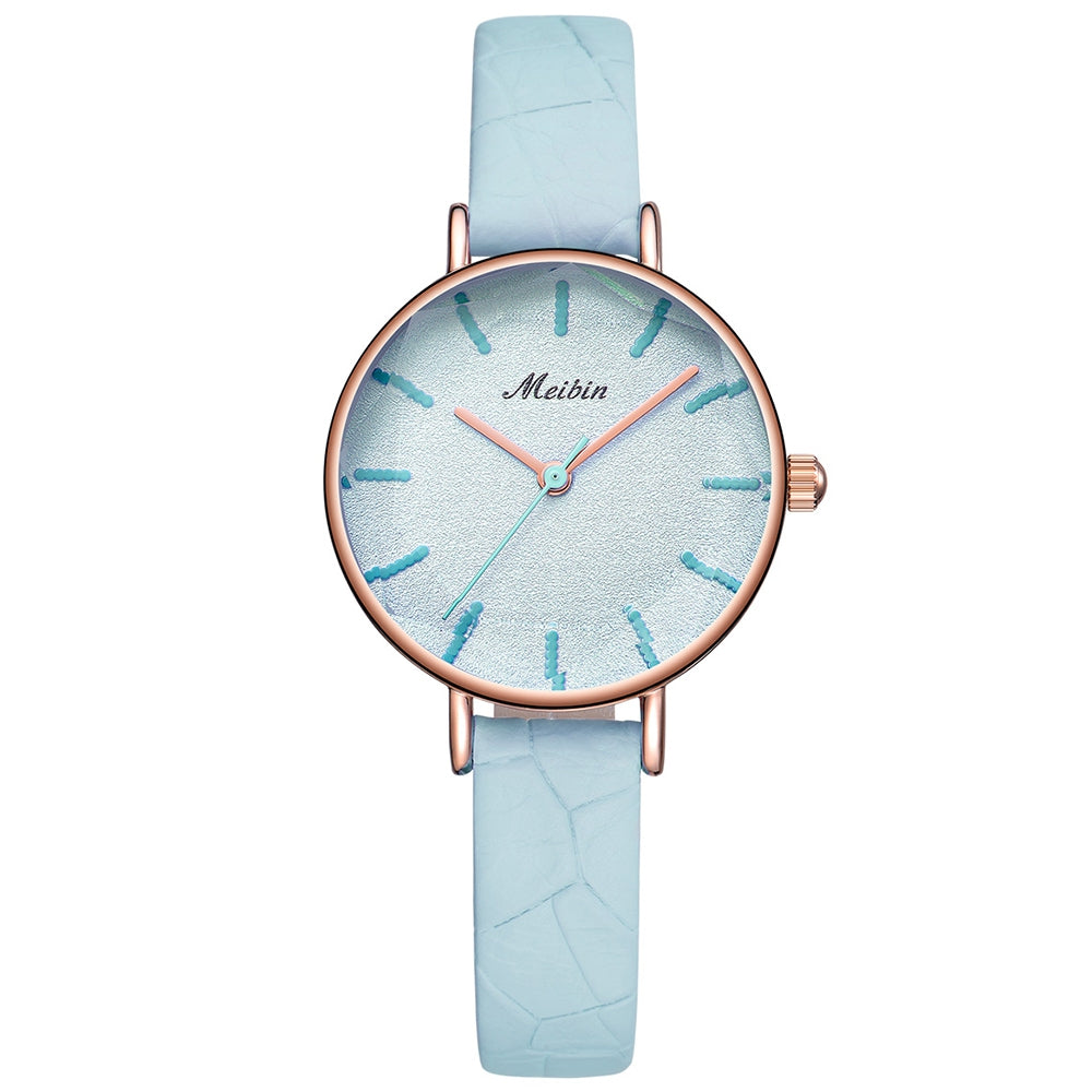 MEIBIN 1059 Ladies Quartz Watch Simple Fashion Trend Waterproof Belt Design
