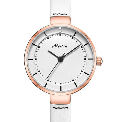 MEIBIN 1061 Women Simple Fresh Belt Watch Waterproof Quartz Watch