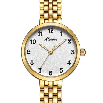 MEIBIN 1051 Ladies Quartz Watch Waterproof Fashion Steel Belt