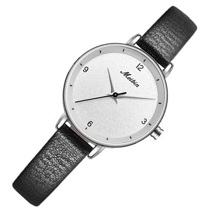 Meibin 1062 Women Waterproof Quartz Watch Leather Belt