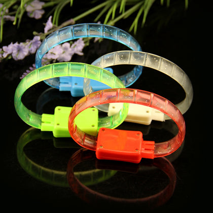 Bracelet LED Colorful Flash 1pcs Rubber Light Soft Plastic Hand Band
