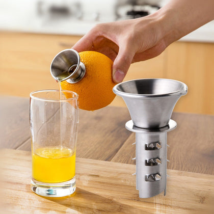Creative Stainless Steel Thick Manual Fruit Juicer 2pcs