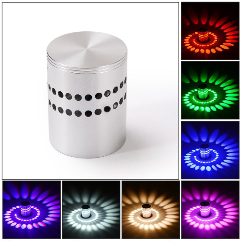 sanlang - 122 86 - 265V RGB Remote Control LED Spiral Wall Light