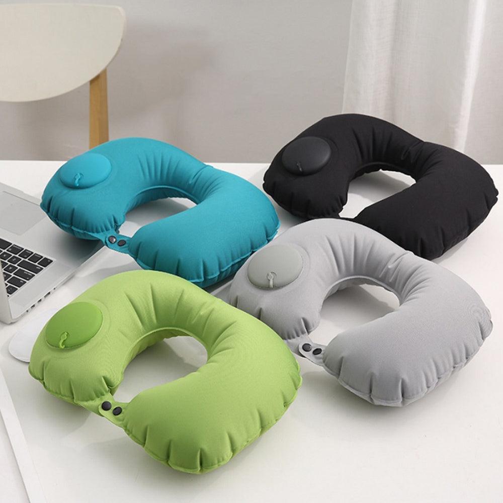 U-shaped Pillow Travel Portable Push-type Inflatable Car Home Office