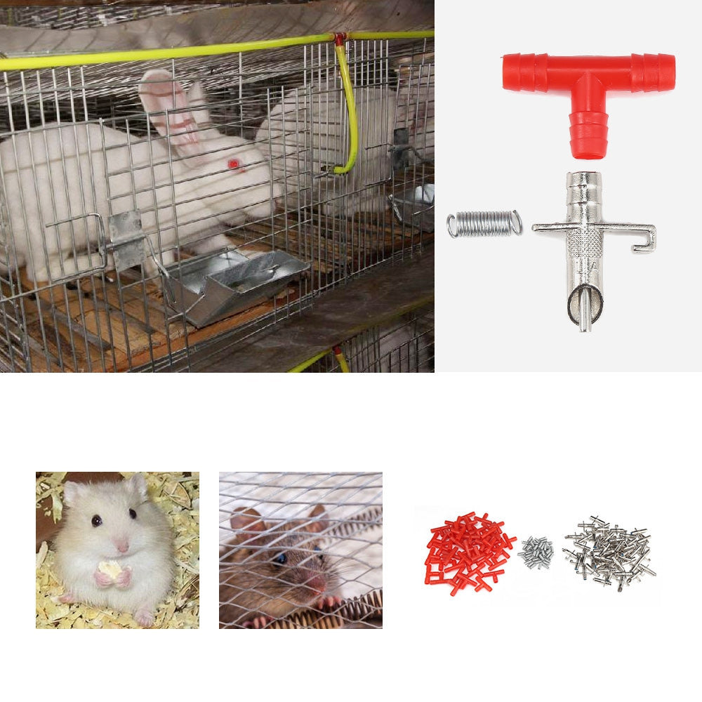 50PCS Rabbit Drinker Nipple Automatic Pet Feeder Water Bunny Farm Rodents Animal Rat Ferrets