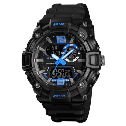 SKMEI 1529 Men's Mature Outdoor Sports Dual Display Digital Watch Luminous
