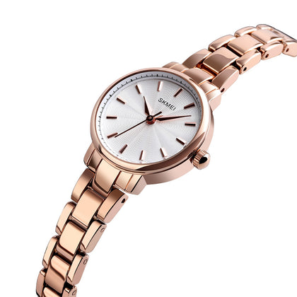 SKMEI 1410 Ladies Exquisite Mini Business Waterproof Quartz Watch Concise Dial