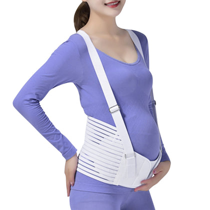 Adjustable Pregnant Women Prenatal Waist Care Belly Support Belt Shoulder Strap